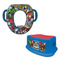 Marvel Heroes Potty and Step Stool Combo Set, Blue (Discontinued by Manufacturer)