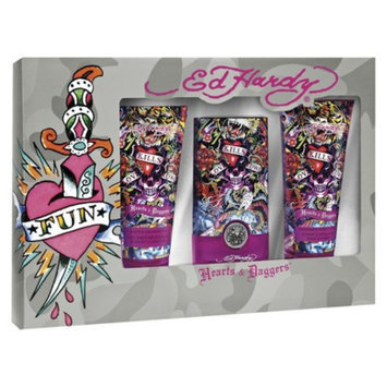Women's Hearts & Draggers by Ed Hardy Fragrance Gift Set - 3 pc