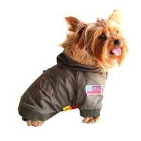 Anima Green Dog Bomber Jacket, XX-Small ()