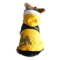 Anima L.A. Yellow Quilted Dog Jacket, Large