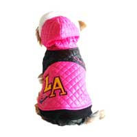 Anima L.A. Pink Quilted Dog Jacket, XX-Small