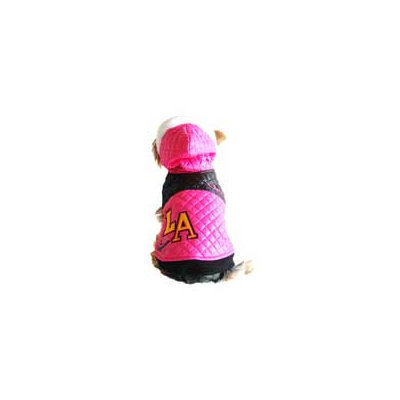 Anima L.A. Pink Quilted Dog Jacket, X-Small