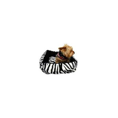 Anima Ultra Plush Black Zebra Dog Bed, 16 L X 16 W X 5.5 H