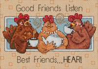 Dimensions Good Friends Listen Mini Counted Cross Stitch Kit, 7