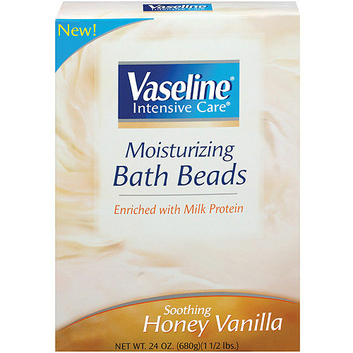 Vaseline Intensive Care Soothing Honey Vanilla Enriched w/Milk Protein Moisturizing Bath Beads