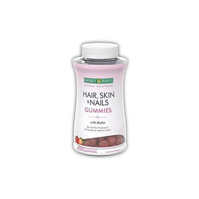 Nature's Bounty Optimal Solutions Hair, Skin and Nails Gummies - 220 Count