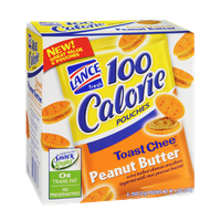 Lance 100 Calorie Toast Chee Peanut Butter Cracker Pouches - 6 CT