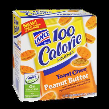 Lance 100 Calorie Toast Chee Peanut Butter Cracker Pouches - 6 CT