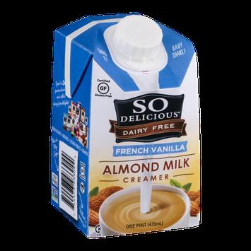 So Delicious Dairy Free Almond Milk Creamer French Vanilla