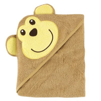 Baby Vision Luvable Friends Animal Face Hooded Towel Woven Terry, Monkey