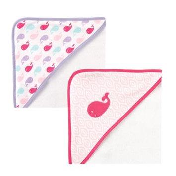 Luvable Friends Hooded Towel, 2pk, Girl