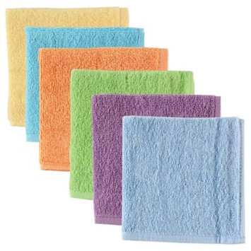 Baby Vision Luvable Friends 6 Pack Washcloths - Yellow