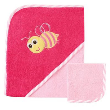 Luvable Friends Hooded Towel with Washcloth, Bee