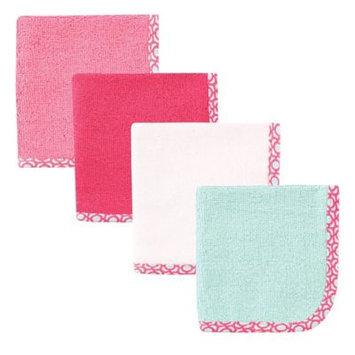 Hudson Baby Print Woven Washcloth, 4pk, Lattice