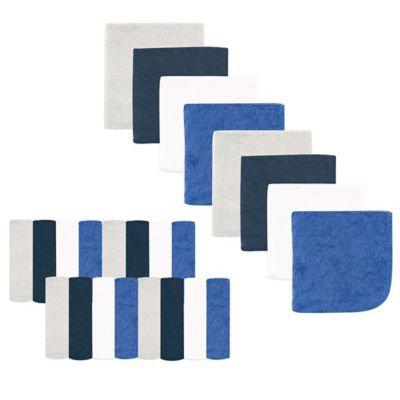 Luvable Friends Washcloth, 24pk, Bright Blue