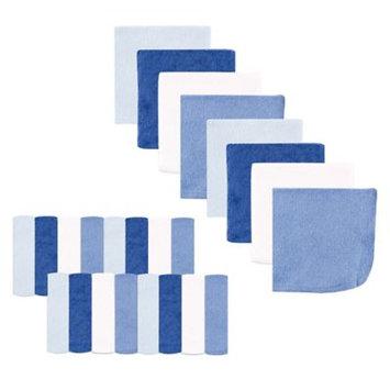 Luvable Friends Washcloth, 24pk, Classic Blue