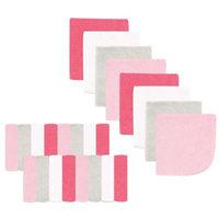 Luvable Friends Washcloth, 24pk, Pink Pastel