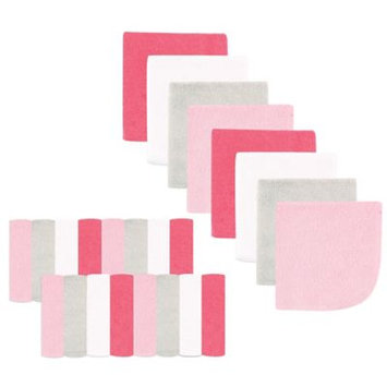 Luvable Friends Washcloth, 24pk, Pink Pastel
