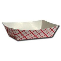 Penn Jersey Paper Co 1 lb Paper Food Baskets in Red / White