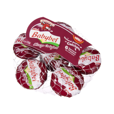 The Laughing Cow Mini Babybel Sharp Original Semisoft Cheeses - 6 CT