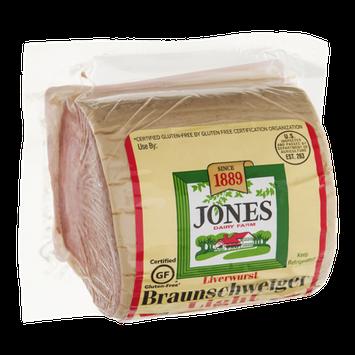 Jones Dairy Farm Braunschweiger Liverwurst Light
