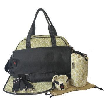 House of Botori Bolu Bowler Filigree Diaper Bag, Sage, 1 ea