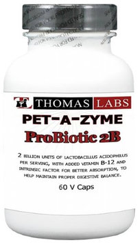 Thomas Labs Pet-A-Zyme Probiotics 2B w/Intrinsic Factor 12 - 60 capsules