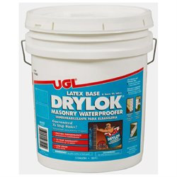 United Gilsonite Laboratories 27515 5 Gallon Latex Base Drylok Masonry Waterproofer, White