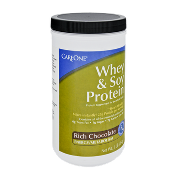 CareOne Whey & Soy Protein Rich Chocolate Protein Supplement