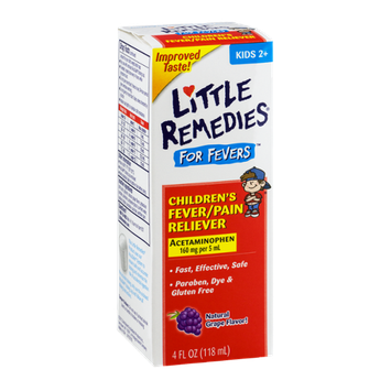 Little Remedies For Fevers Children's Fever/Pain Reliever Kids 2+ Natural Grape Flavor