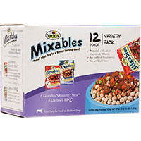 Mixables Variety Packs for Small to Medium Dogs, Pack of 12, Grandma's Country Stew and Outback BBQ