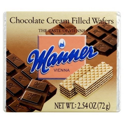 Manner Wafers Chocolate Pocket Pack, 2.54-Ounce (Pack of 12)