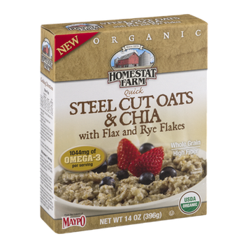 Homestat Farm Quick Steel Cut Oats & Chia with Flax and Rye Flakes
