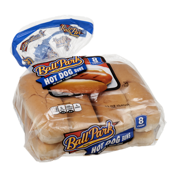Ball Park Hot Dog Buns - 8 CT
