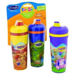 Evenflo FunSip Insulated Spillproof Cup- 10oz 2pk