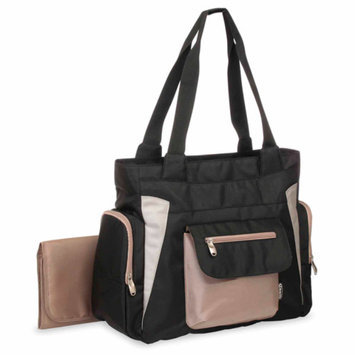 Graco Pierce Diaper Bag Tote - Black/Taupe