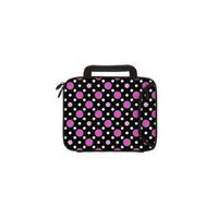 Designer Sleeves 10DSH-PDBPW 10 inch Tablet & Ipad - Polka Dots, Black With Pink & White
