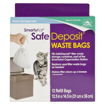 SmartyKat SafeDeposit Litter Waste Bags for Cat - 12 Count