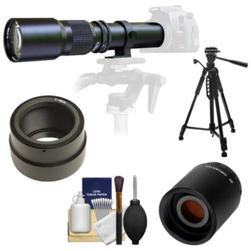Samyang 500mm f/8.0 Telephoto Lens with 2x Teleconverter (=1000mm) + 58