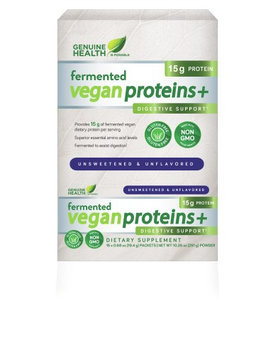 Fermented Vegan Proteins + Unflavoured Genuine Health 15 packets Box