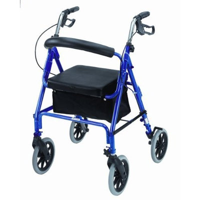 Mabis Dmi Healthcare Freedom Series Deluxe Aluminum Rollator, Royal Blue, One