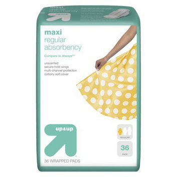 Up & Up Regular Maxi Pads with Wings 36-pk.