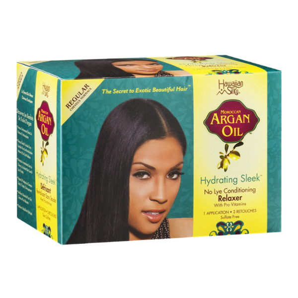 Hawaiian Silky Moroccan Argan Oil Hydrating Sleek No Lye Conditioning Relaxer