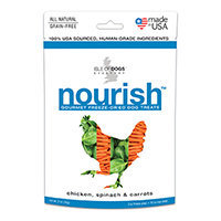 Isle of Dogs 2-Ounce Nourish Freeze-Dried Dog Treats - Chicken, Spinach & Carrots (Natural)