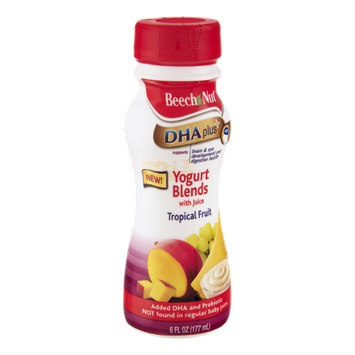 Beech Nut  DHA Plus Tropical Fruit Yogurt Blends with Juice