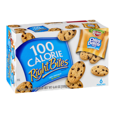 100 Calorie Right Bites Chips Deluxe Cookies - 6 CT