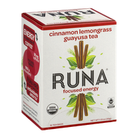 Runa Cinnamon Lemongrass Guayusa Tea Focused Energy - 16 CT
