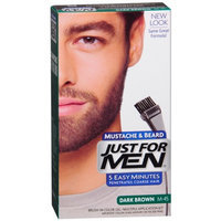JUST FOR MEN® Brush-In Color Gel for Mustache and Beard Hair Color Dark Brown