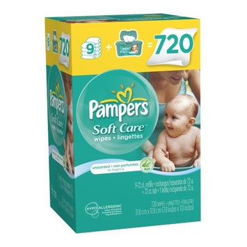 Pampers® Softcare Unscented Wipes With Tub Size 9