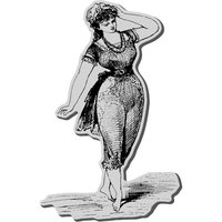 Stampendous Inc Stampendous Cling Rubber Stamp-Bathing Beauty